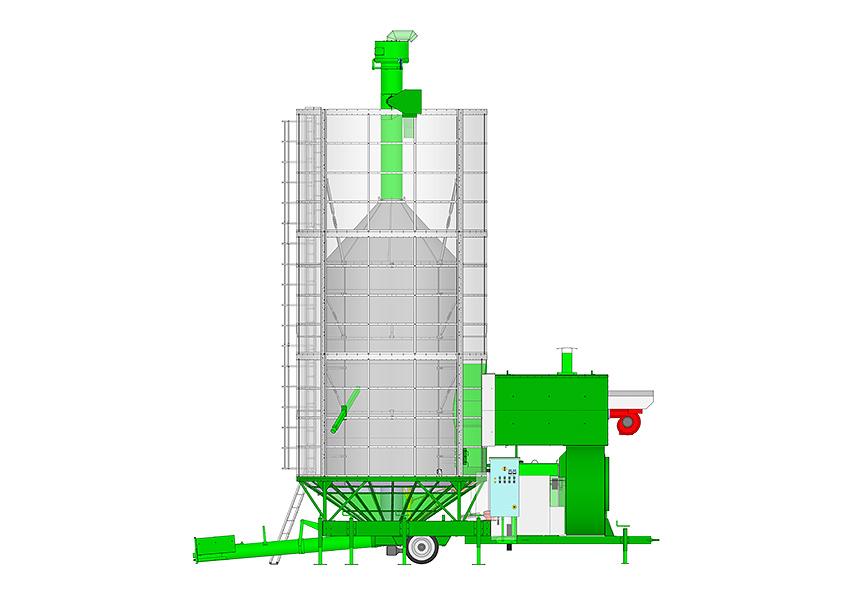 Essiccatoi per cereali mobili bio